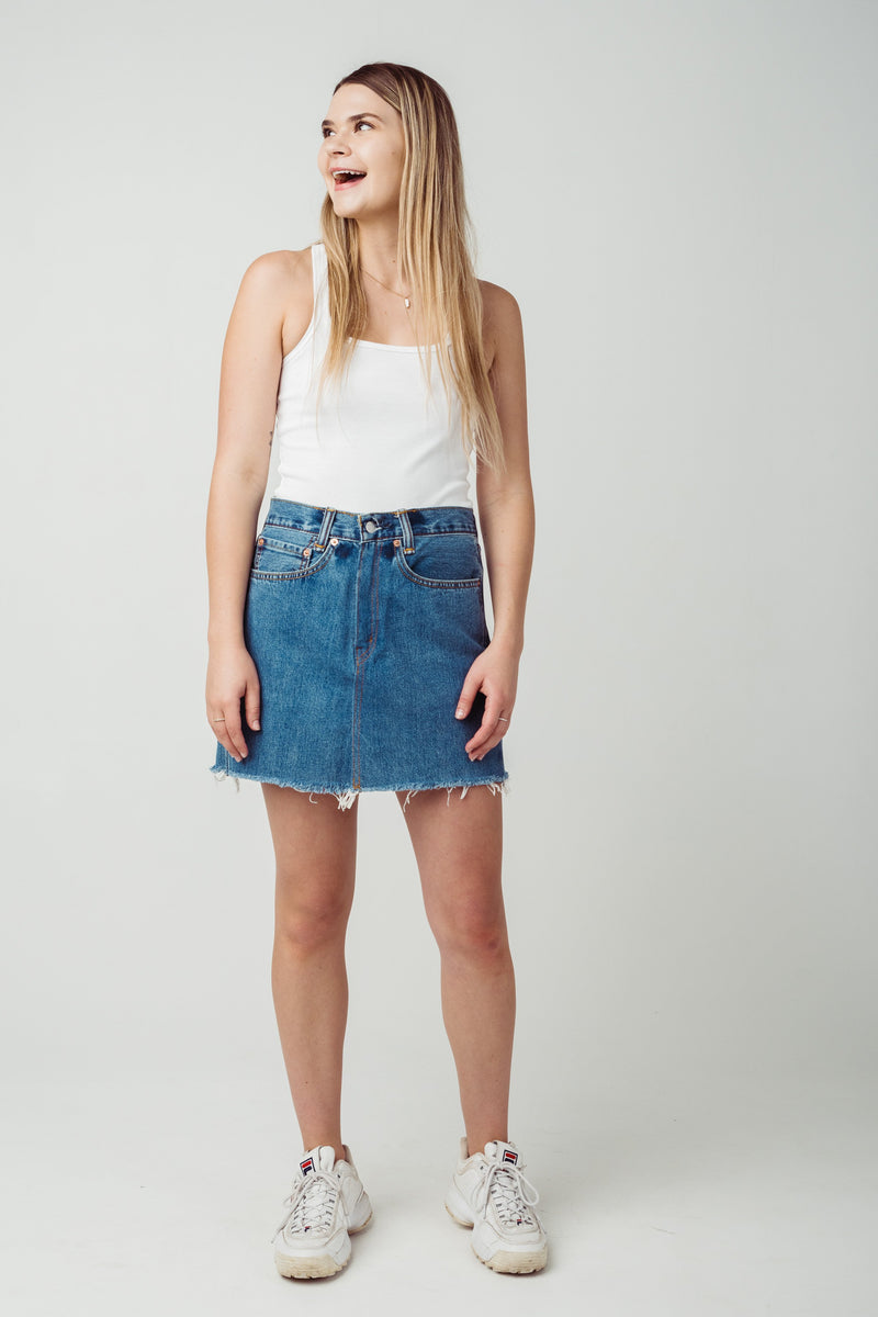 Vintage Levi's 505 Denim Skirt W26