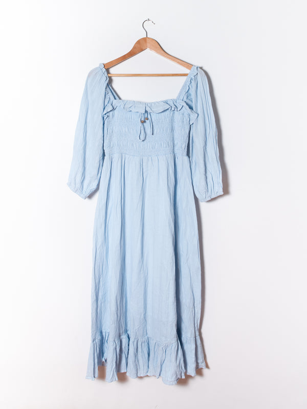 Peasant Dress in Blue