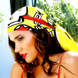 Silk Scarf Summer 'Yellow Heart' | DREAM for LOVE