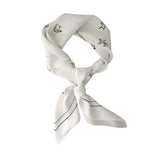Silk Scarf Black & White 'Love Arrows' | DREAM4LOVE