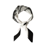 Silk Scarf Black & White 'Forest House' | DREAM4LOVE