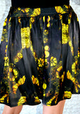 GOLD FLOWER - SILK MINI SKIRT