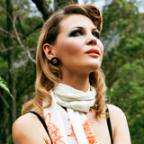 Designer Silk Scarf Floral 'Lily' | DREAM for LOVE