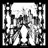Silk Scarf Black & White 'City' | DREAM4LOVE