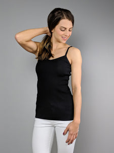 The Essential Ribbed Tank -Black