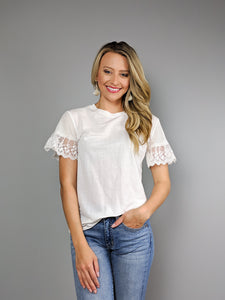 Sweet Dream Lace Detail Tee