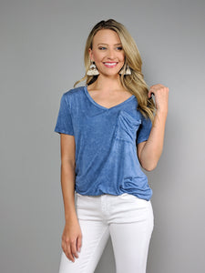 Casual Days Pocket Tee -Royal Blue