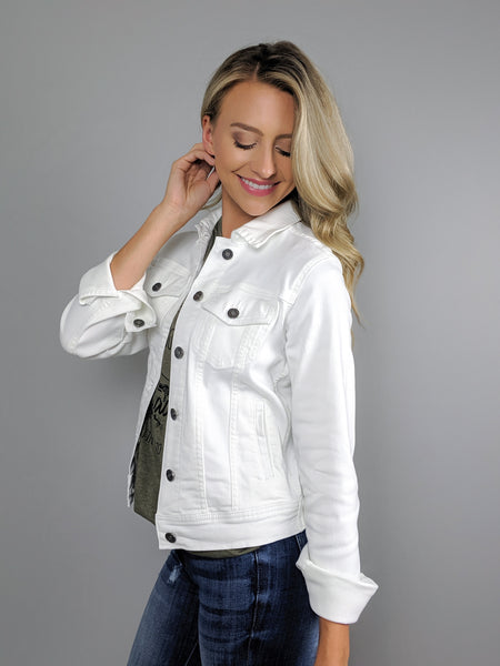 Down the Road White Denim Jacket