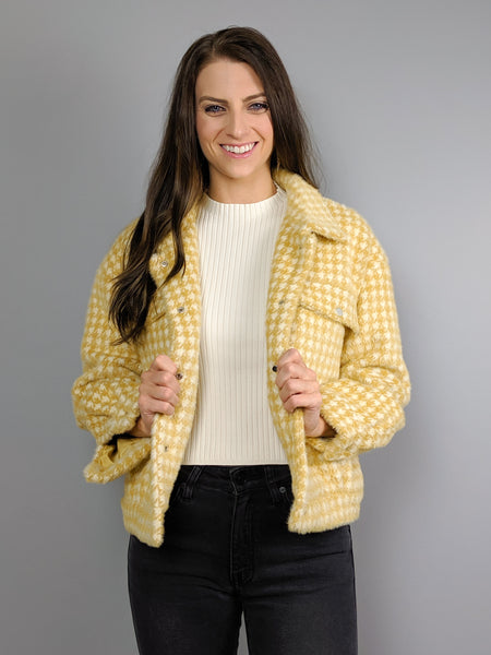 Honey Crisp Houndstooth Jacket