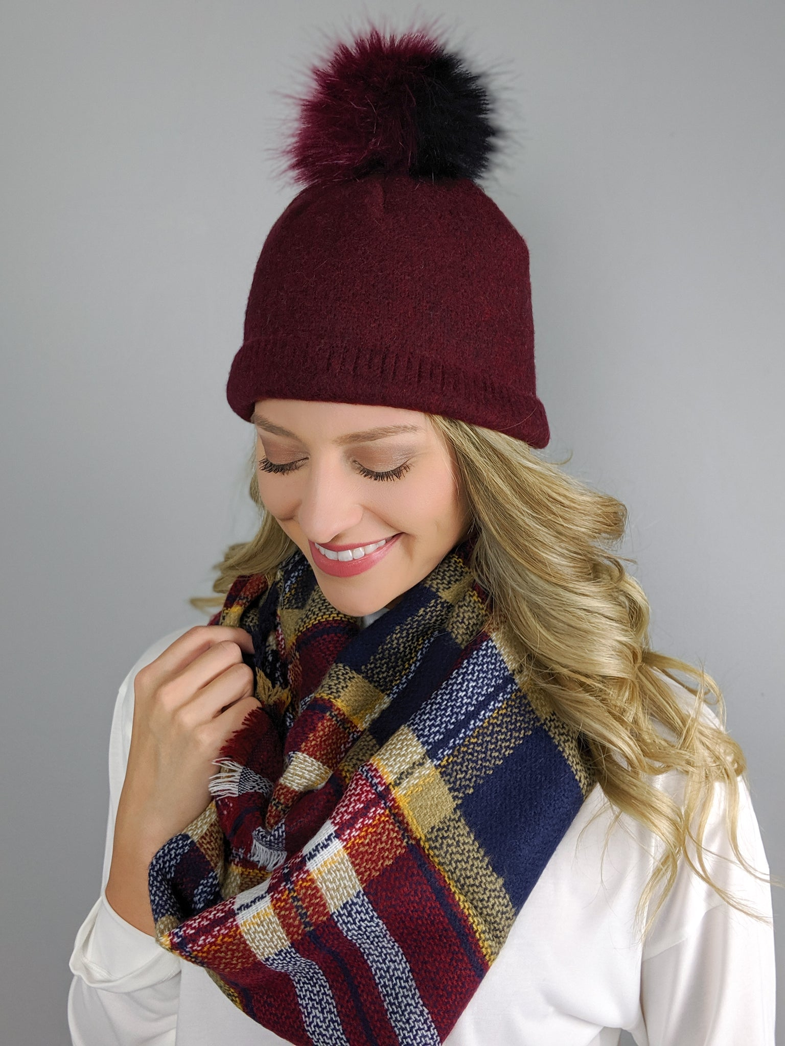 Warming Hearts Pom Hat