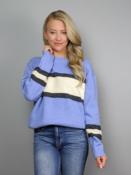 Racing to You Sweater -Blue