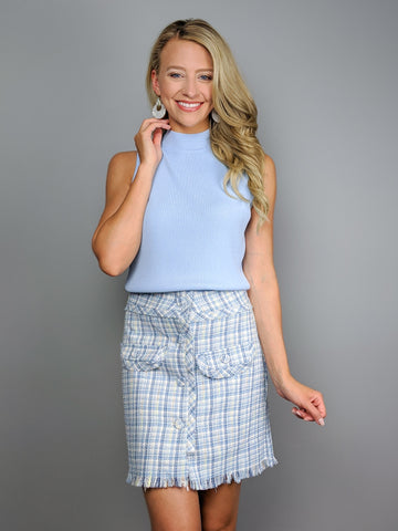 All About Class Plaid Skirt