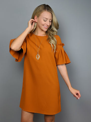Hunter Dress -Burnt Orange