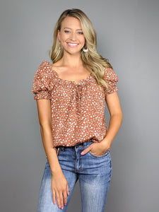 Blooming Meadows Puff Sleeve Top