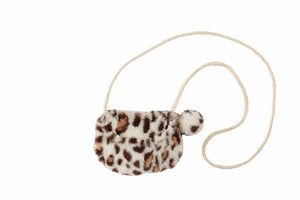 Wild Babe Purse -White Leopard