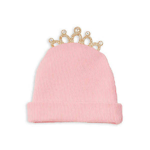 Crowned with Grace Knit Hat -Pink