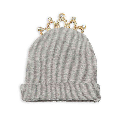 Crowned with Grace Knit Hat -Gray