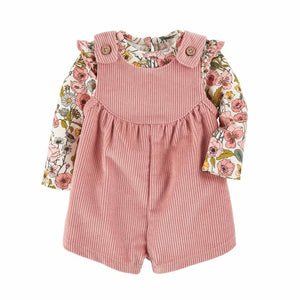 Blushing Blooms Overall Set