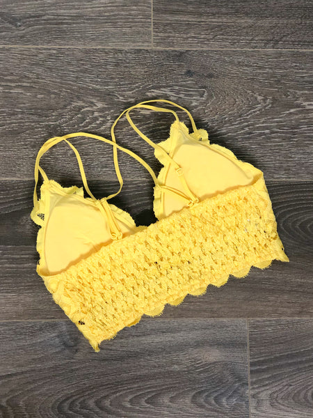 Simply Lace Bralette -Yellow