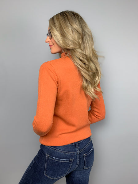 Perfect Layer Sweater -Orange
