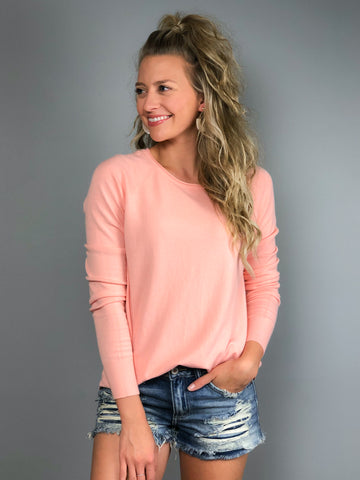 Candy Kisses Sweater -Peach