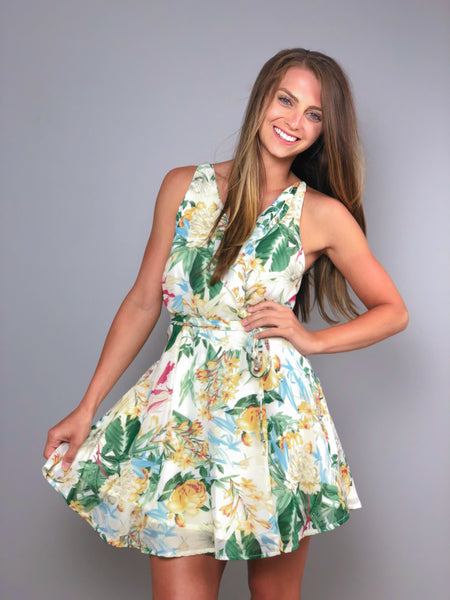 Tropical Oasis Wrap Dress