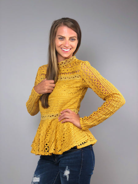 Sunshine Lace Top