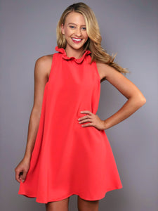 Little Bow Peep Dress -Coral