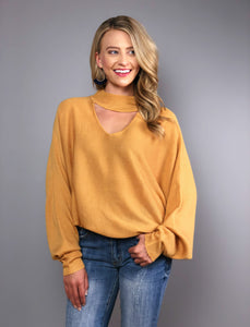 Fall In Love Cutout Sweater