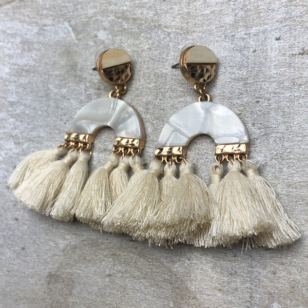 Gone Coastal Tassel Earring