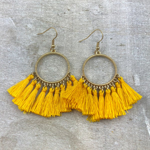 Dream Catcher Tassel Earring -Yellow