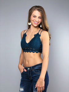 Simply Lace Bralette -Teal