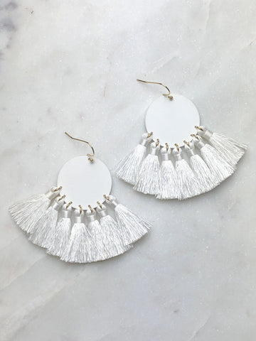 Moonlight Earring -White