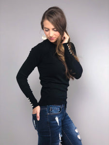 Glimmering Lights Pearl Embellished Sweater