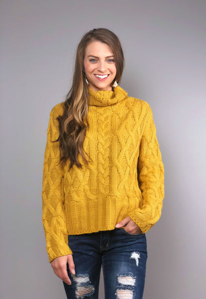 Fireside Nights Sweater -Mustard
