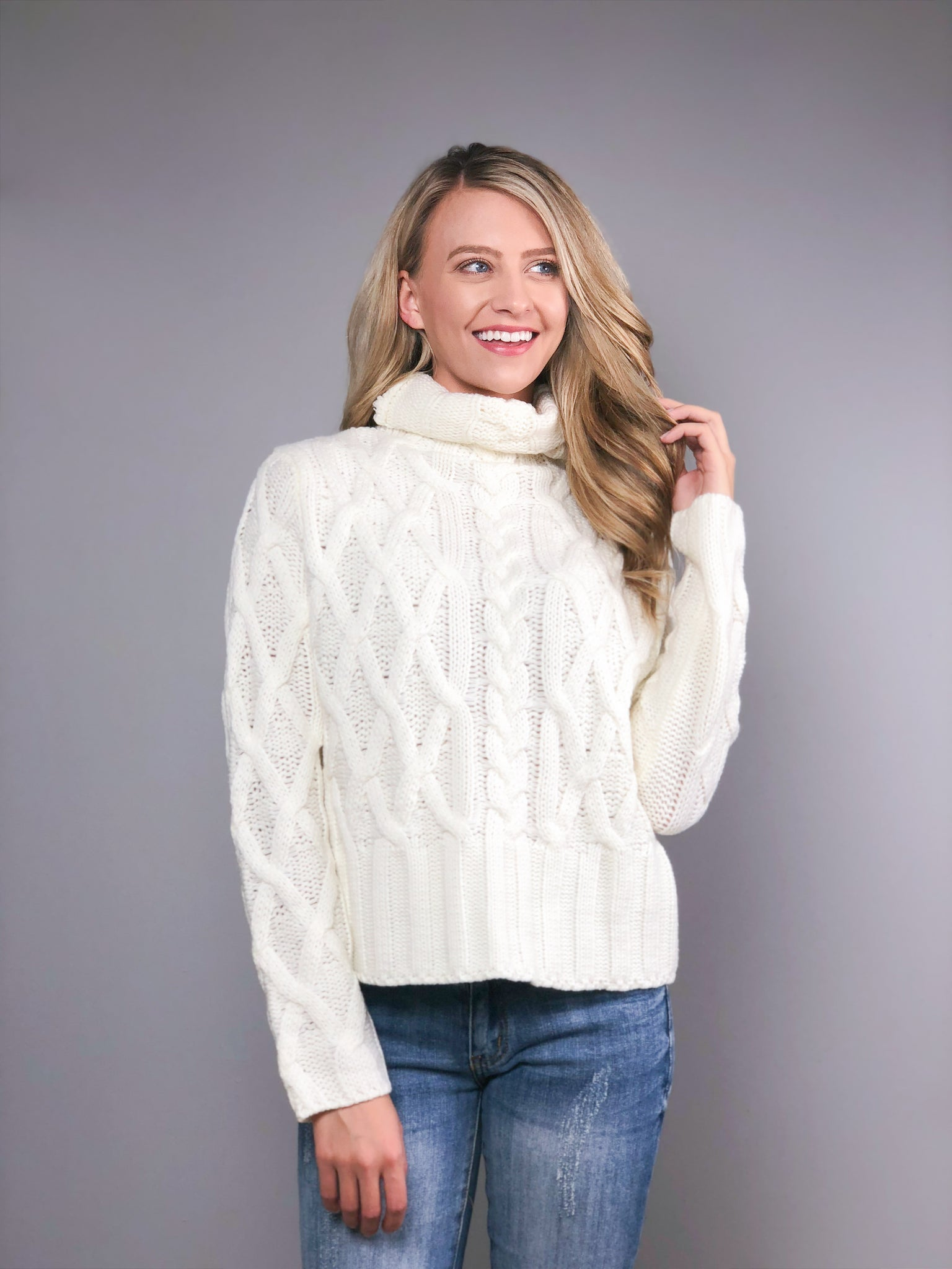 Fireside Nights Sweater -Cream