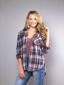 Vintage Skies Plaid Shirt