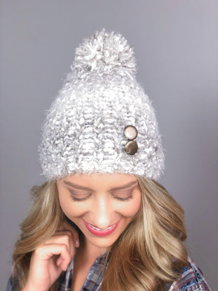 Morning Frost Knit Hat -Taupe
