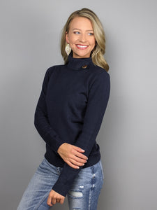 Perfect Layer Sweater -Navy