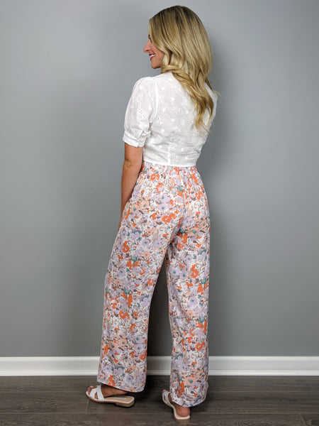 Watercolor Skies Pant -Coral