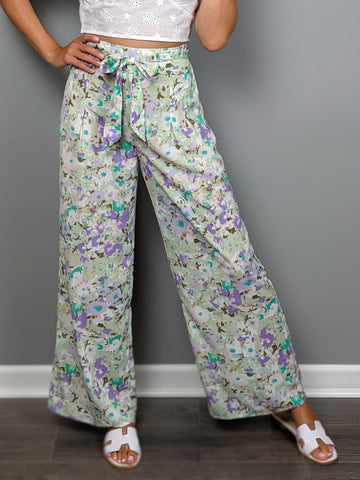 Watercolor Skies Pant -Sage