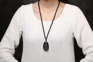 Guardian Buddha Pendant Necklace - Lucky Necklace for Men and Women