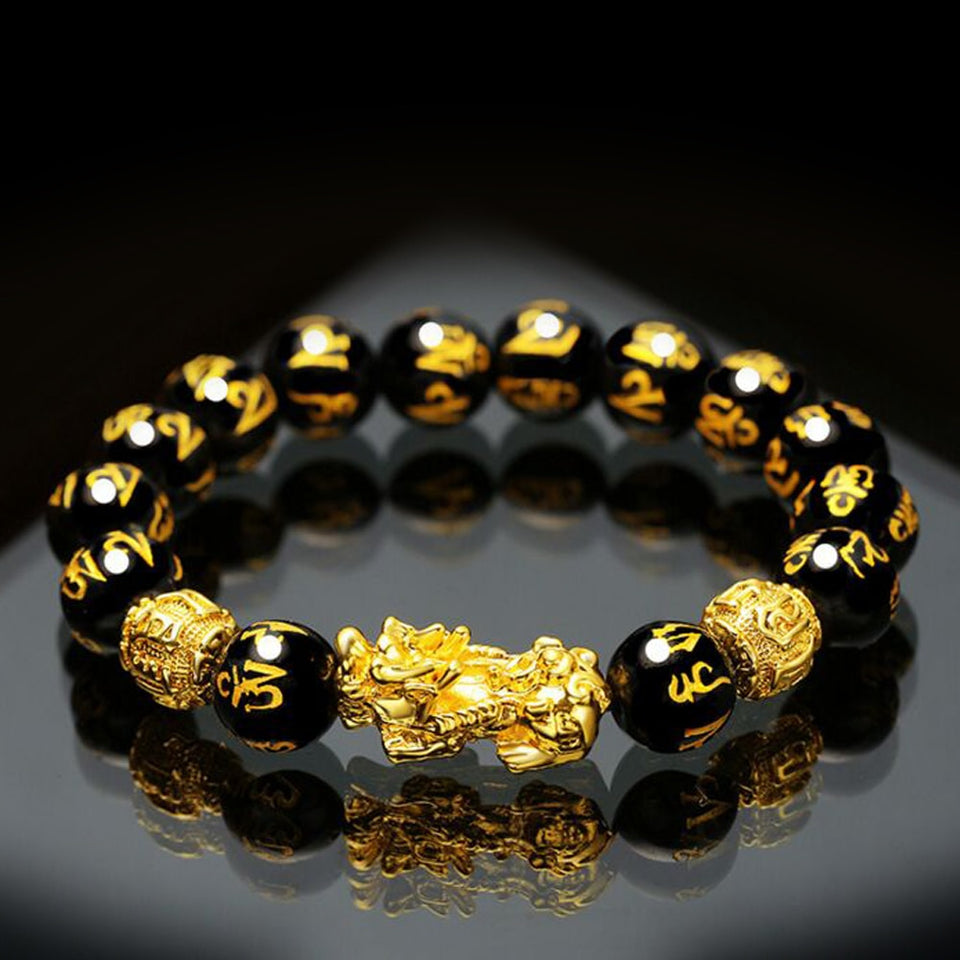 Feng Shui Black Obsidian Wealth Bracelet