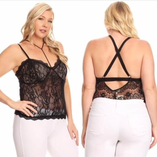Stacie Lace Top - Haute Couture