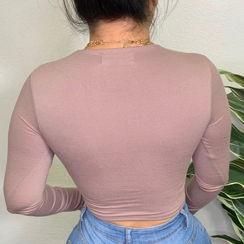 Ensely Crop Top-(Taupe)