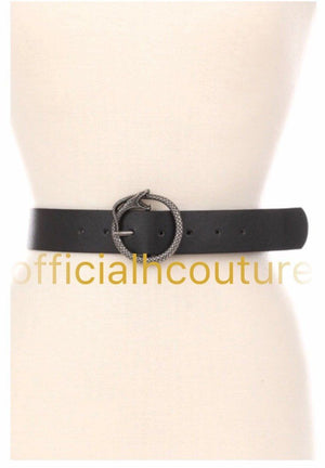 In My Place Belt-(Black) - Haute Couture
