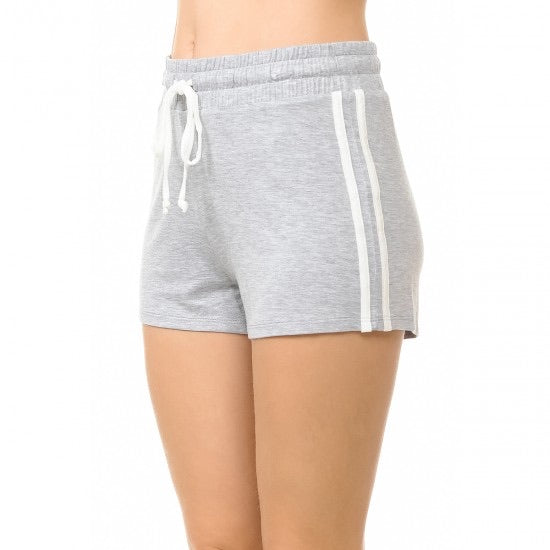 Pauline Mini Shorts-(Heather Grey)