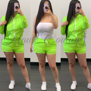 Lilith Windbreaker Set-(Neon Green)