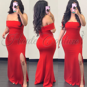 Empress Gown-(Red) - Haute Couture