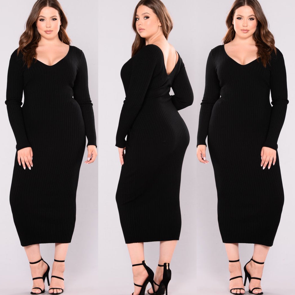 Kim Off The Shoulder Dress-(Black)